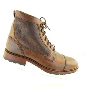Trask Lawrence Dark Brown Mens Chukka Style Cap To